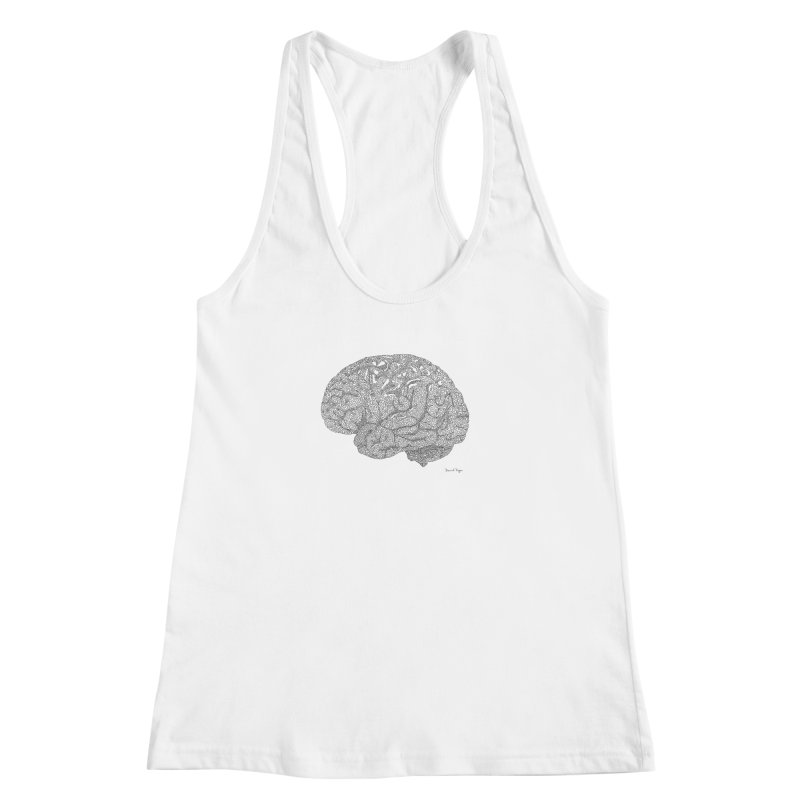 Brain Work Women's Racerback Tank by Daniel Dugan's Artist Shop