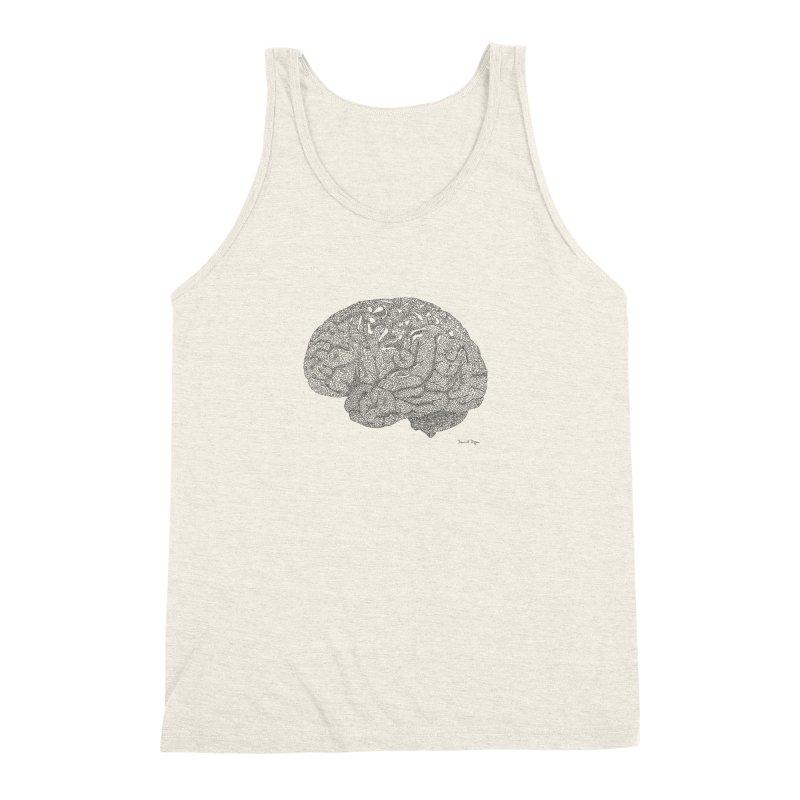 Brain Work Men's Triblend Tank by Daniel Dugan's Artist Shop