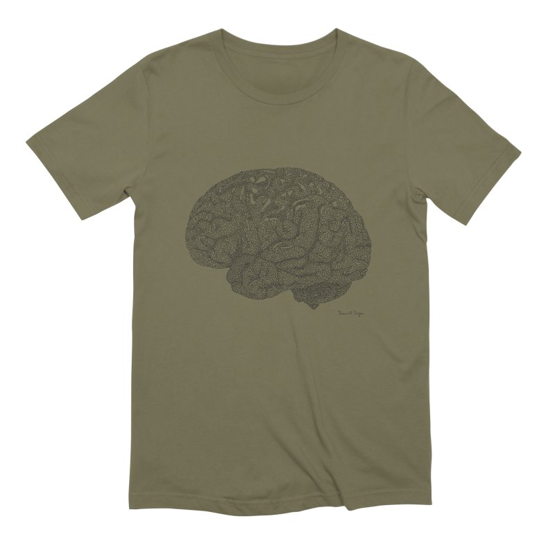 Brain Men's T-Shirt by Daniel Dugan's Artist Shop