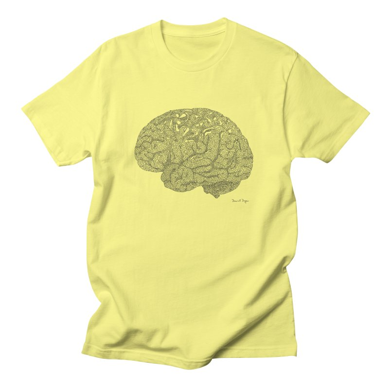 Brain Men's T-Shirt by Daniel Dugan's Artist Shop