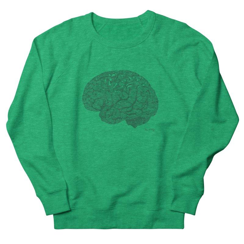 Brain Women's Sweatshirt by Daniel Dugan's Artist Shop