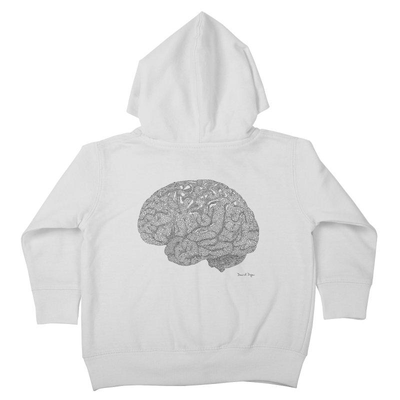 Brain Kids Toddler Zip-Up Hoody by Daniel Dugan's Artist Shop
