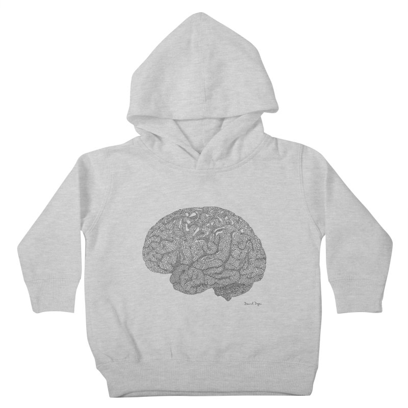 Brain Kids Toddler Pullover Hoody by Daniel Dugan's Artist Shop