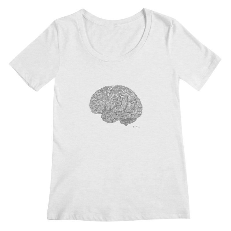 Brain Women's Scoop Neck by Daniel Dugan's Artist Shop