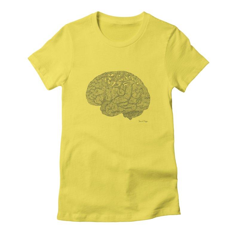 Brain Women's T-Shirt by Daniel Dugan's Artist Shop