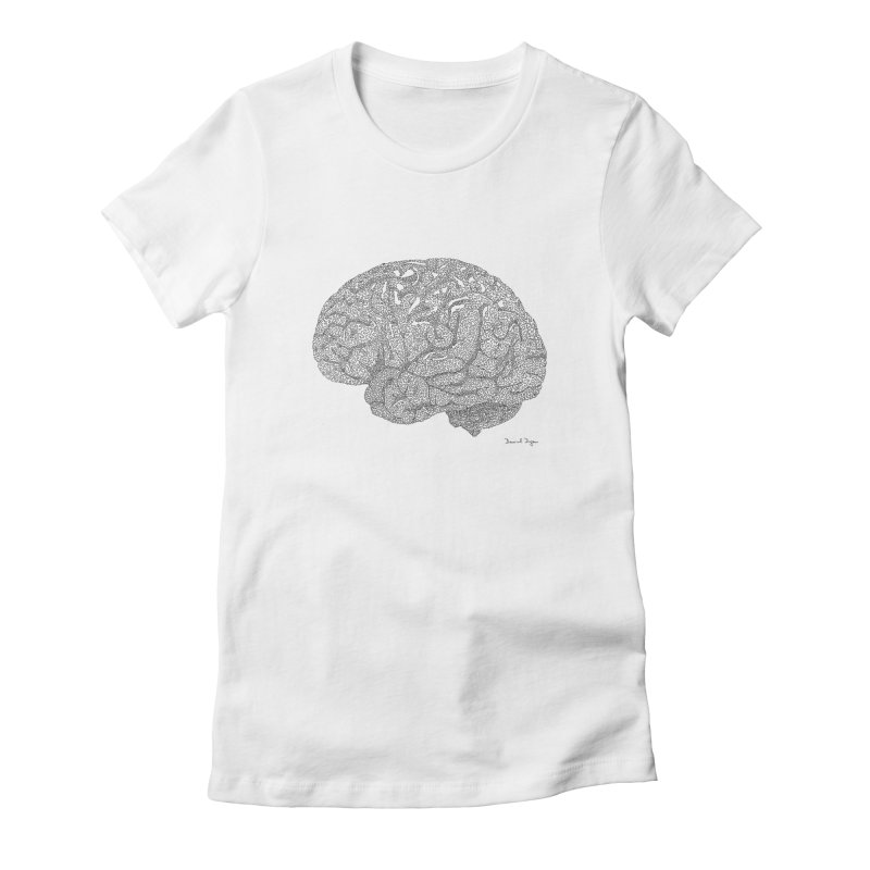 Brain Women's T-Shirt by Daniel Dugan's Artist Shop