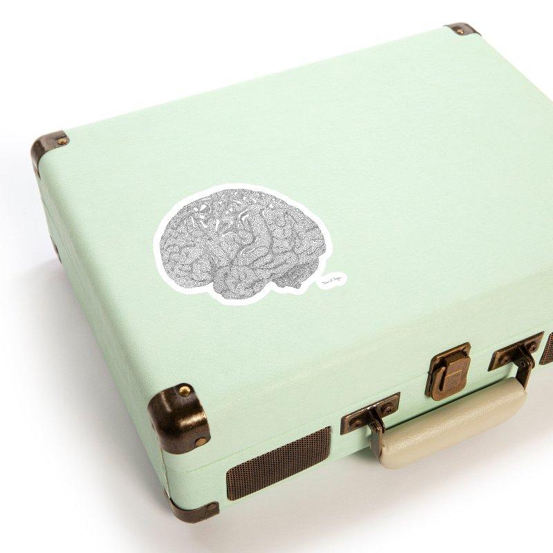 Brain Work Accessories Sticker by Daniel Dugan's Artist Shop