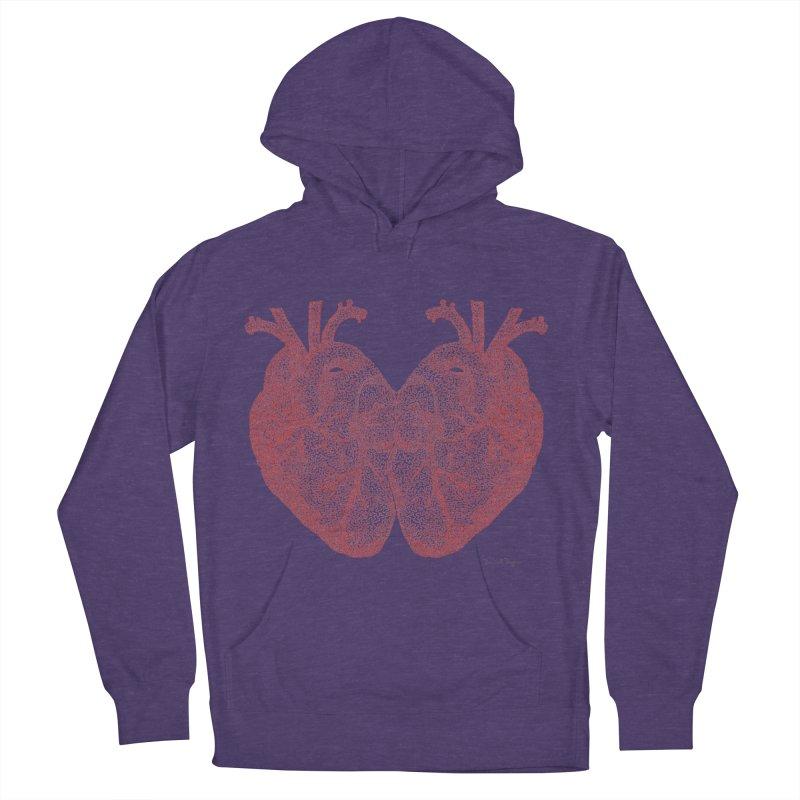 Heart to Heart Men's Pullover Hoody by Daniel Dugan's Artist Shop