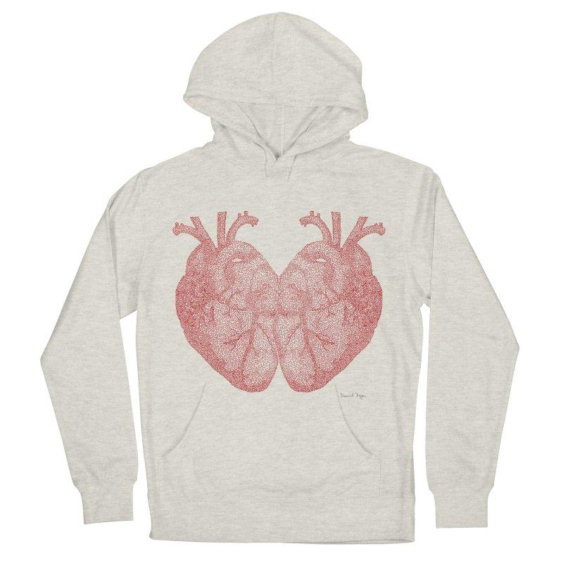 Heart to Heart in Men's Pullover Hoody Heather Oatmeal by Daniel Dugan's Artist Shop