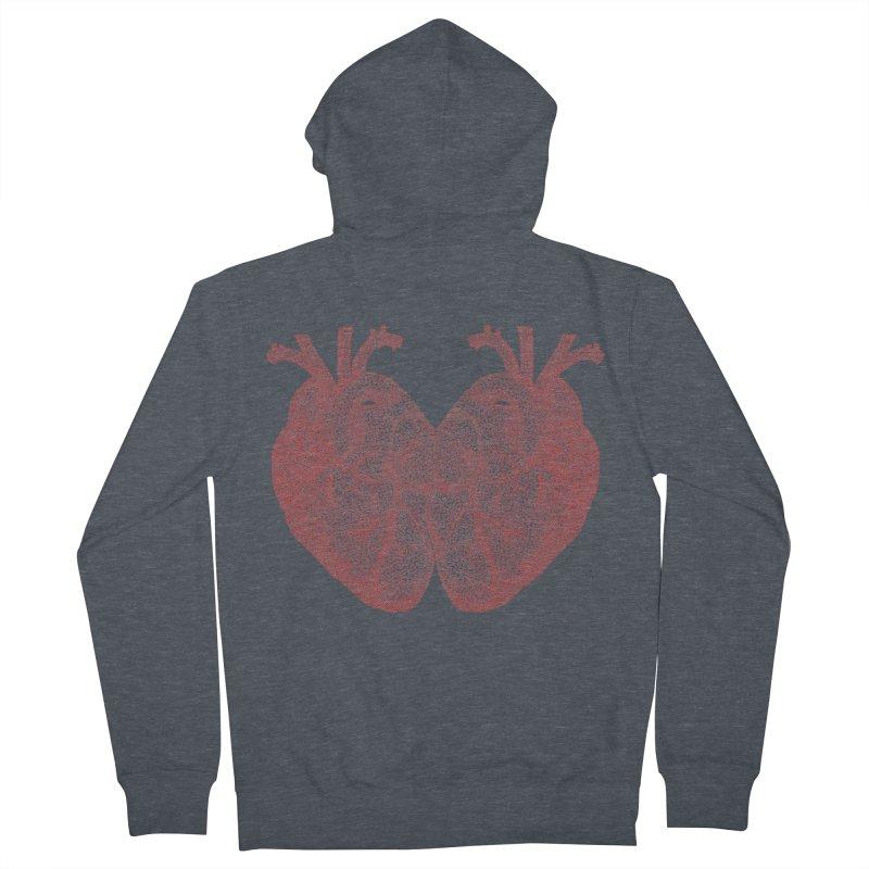 Heart to Heart Men's Zip-Up Hoody by Daniel Dugan's Artist Shop