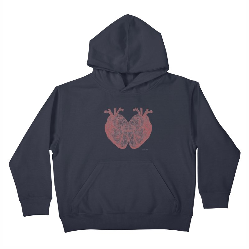 Heart to Heart Kids Pullover Hoody by Daniel Dugan's Artist Shop