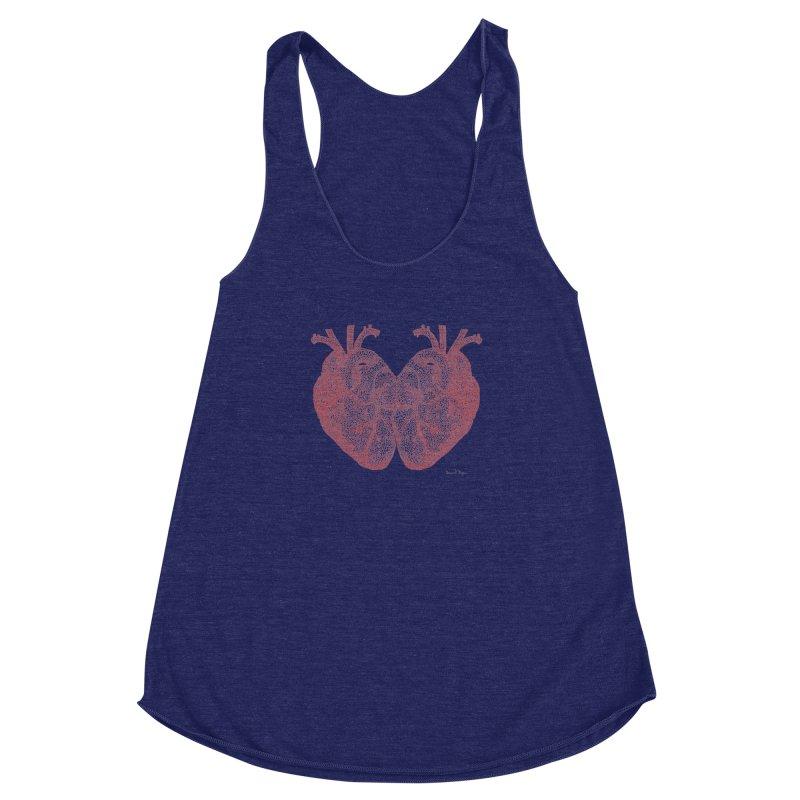 Heart to Heart Women's Racerback Triblend Tank by Daniel Dugan's Artist Shop