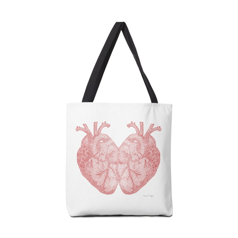 Heart to Heart - One Continuous Line Accessories Tote Bag Bag by Daniel Dugan's Artist Shop