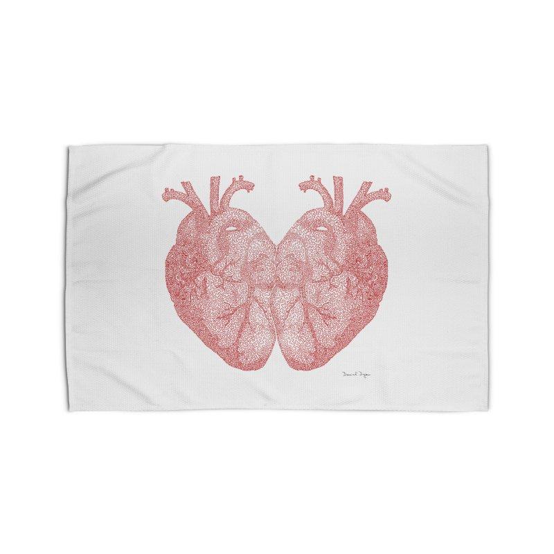 Heart to Heart Home Rug by Daniel Dugan's Artist Shop
