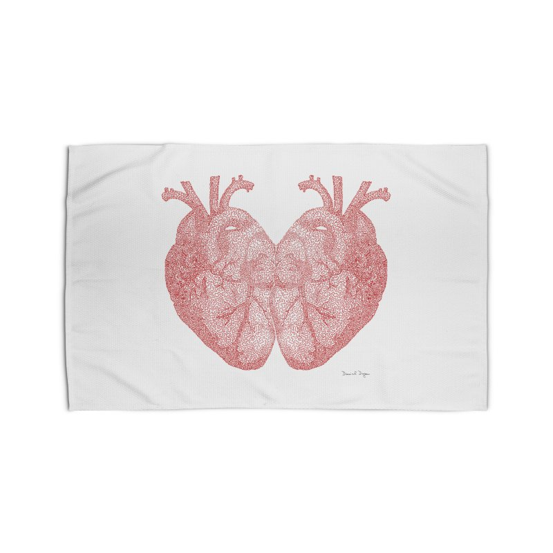 Heart to Heart - One Continuous Line Home Rug by Daniel Dugan's Artist Shop