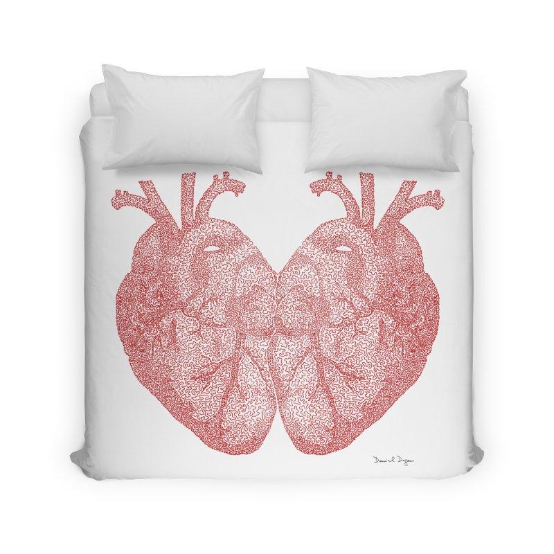 Heart to Heart Home Duvet by Daniel Dugan's Artist Shop