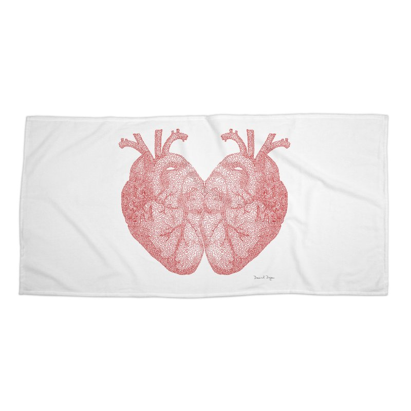 Heart to Heart Accessories Beach Towel by Daniel Dugan's Artist Shop