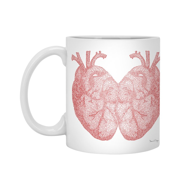 Heart to Heart - One Continuous Line Accessories Standard Mug by Daniel Dugan's Artist Shop
