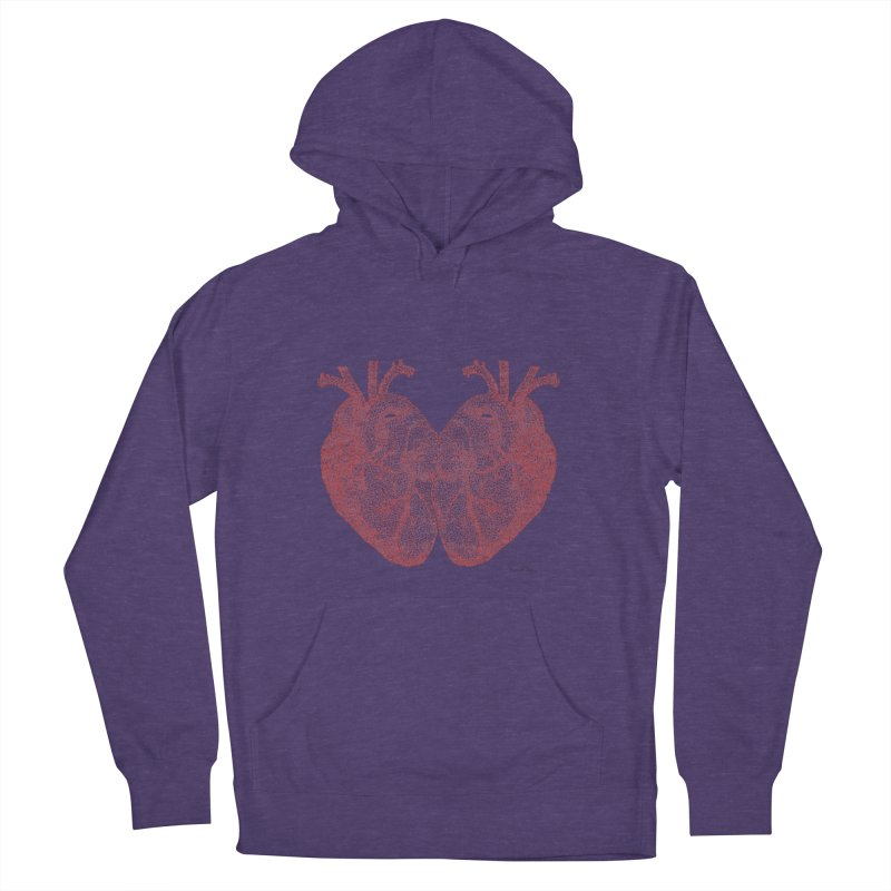 Heart to Heart - One Continuous Line Women's Pullover Hoody by Daniel Dugan's Artist Shop