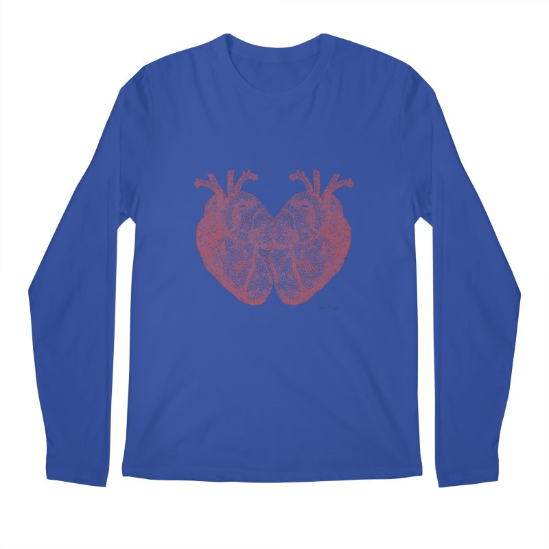 Heart to Heart - One Continuous Line Men's Longsleeve T-Shirt by Daniel Dugan's Artist Shop
