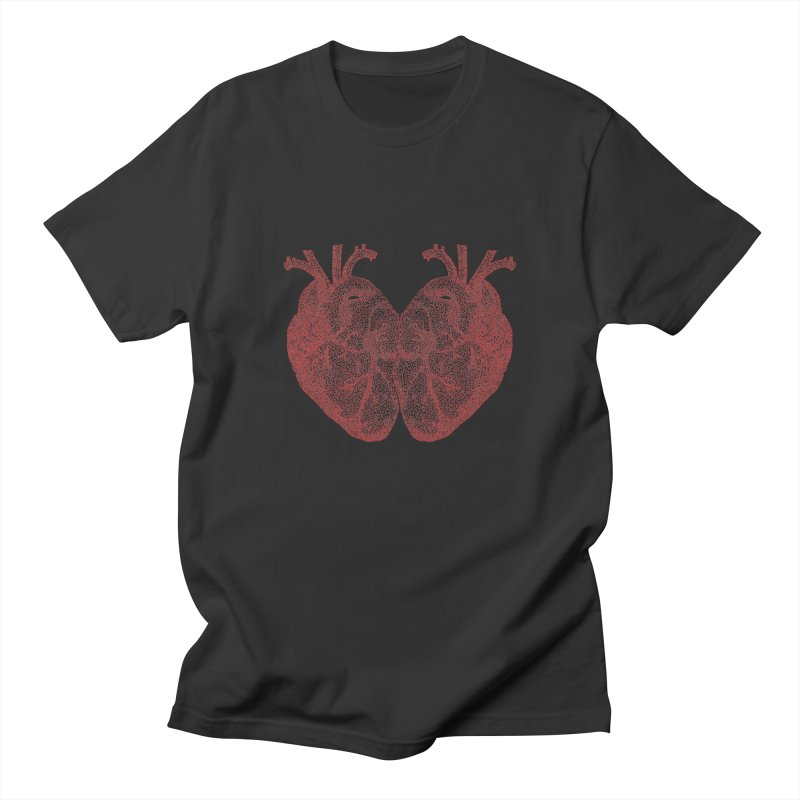 Heart to Heart - One Continuous Line Women's T-Shirt by Daniel Dugan's Artist Shop