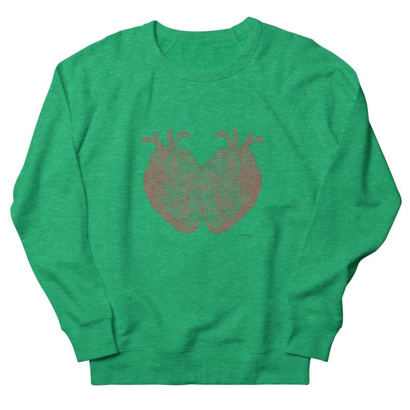 Heart to Heart - One Continuous Line Women's Sweatshirt by Daniel Dugan's Artist Shop
