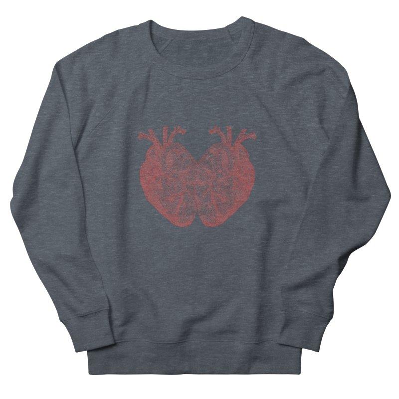 Heart to Heart - One Continuous Line Men's Sweatshirt by Daniel Dugan's Artist Shop