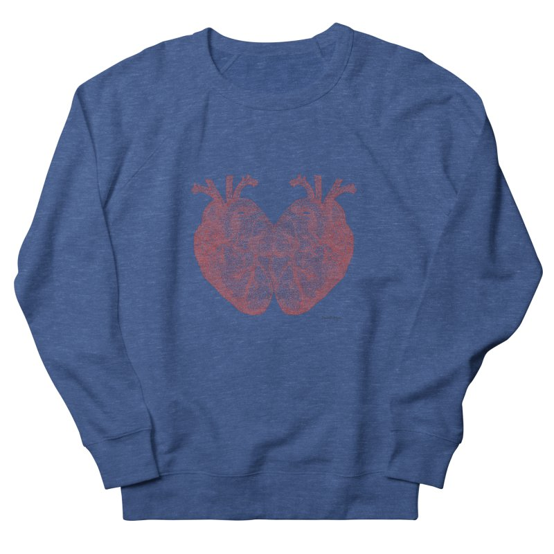Heart to Heart - One Continuous Line Men's Sweatshirt by Daniel Dugan's Artist Shop