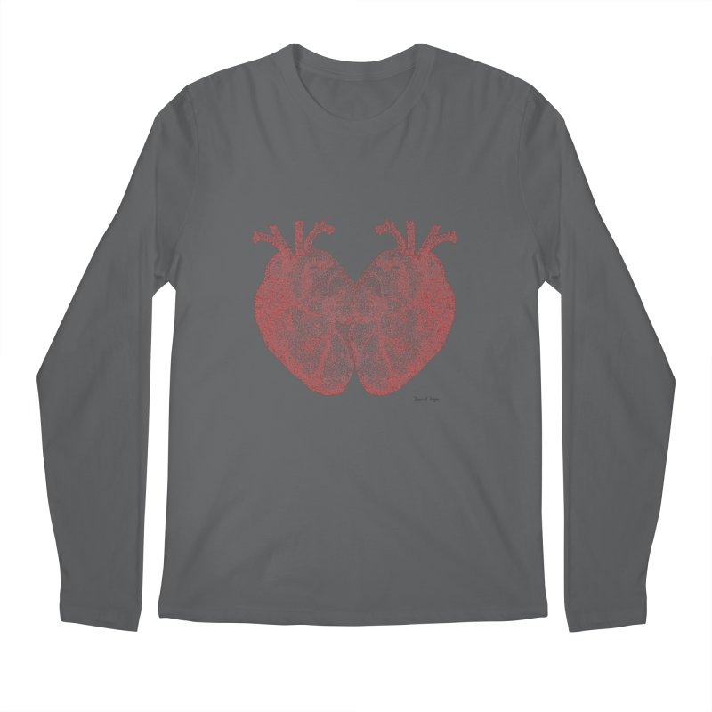 Heart to Heart - One Continuous Line Men's Regular Longsleeve T-Shirt by Daniel Dugan's Artist Shop