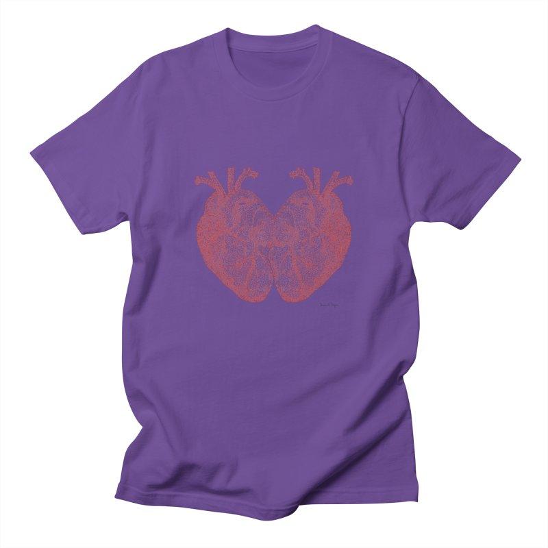 Heart to Heart - One Continuous Line Women's Regular Unisex T-Shirt by Daniel Dugan's Artist Shop