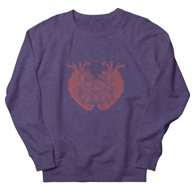 Heart to Heart - One Continuous Line Men's French Terry Sweatshirt by Daniel Dugan's Artist Shop