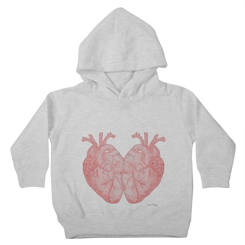 Heart to Heart - One Continuous Line Kids Toddler Pullover Hoody by Daniel Dugan's Artist Shop