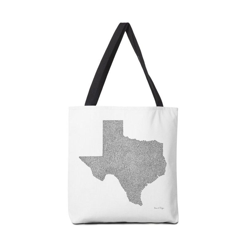 Texas -  Once Continuous Line Accessories Bag by Daniel Dugan's Artist Shop