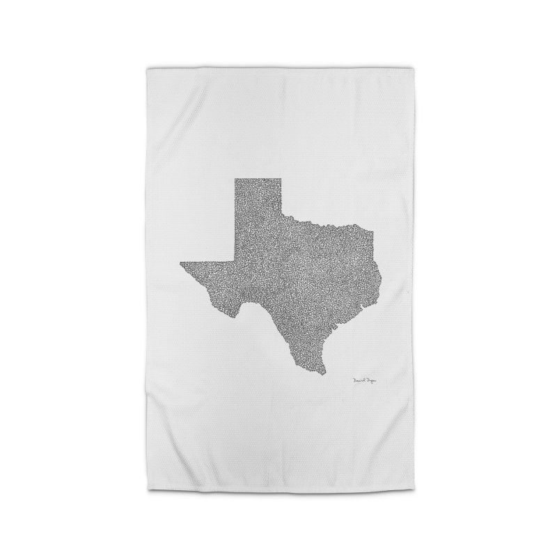 Texas -  Once Continuous Line Home Rug by Daniel Dugan's Artist Shop