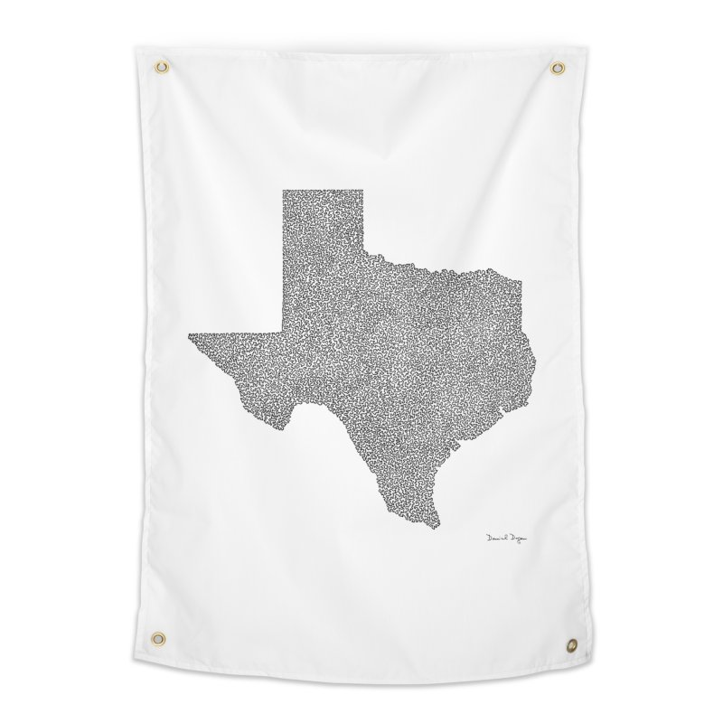 Texas -  Once Continuous Line Home Tapestry by Daniel Dugan's Artist Shop