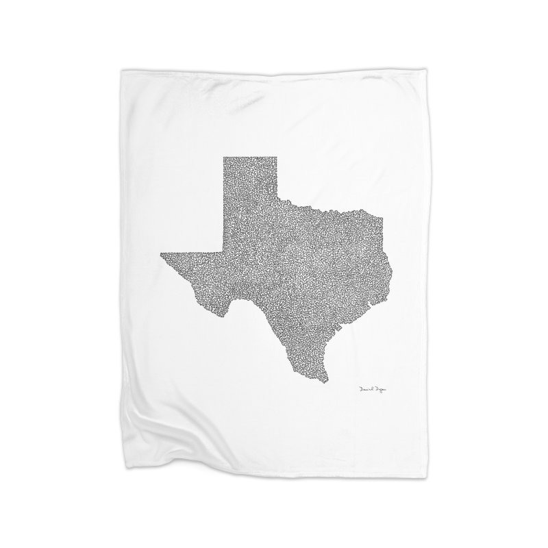 Texas -  Once Continuous Line Home Blanket by Daniel Dugan's Artist Shop