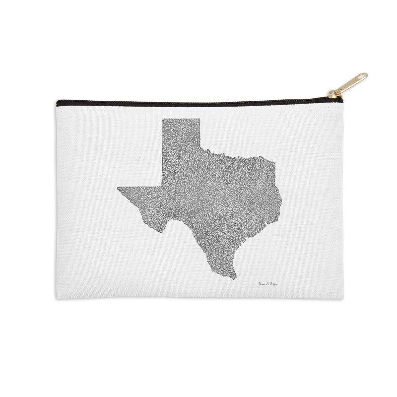 Texas -  Once Continuous Line Accessories Zip Pouch by Daniel Dugan's Artist Shop