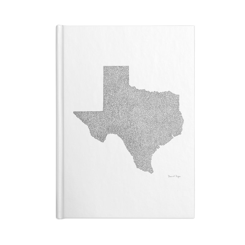 Texas -  Once Continuous Line Accessories Notebook by Daniel Dugan's Artist Shop