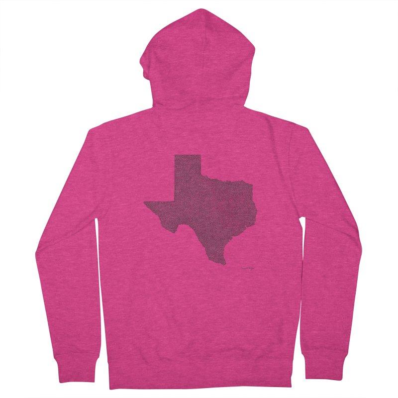 Texas -  Once Continuous Line Women's Zip-Up Hoody by Daniel Dugan's Artist Shop