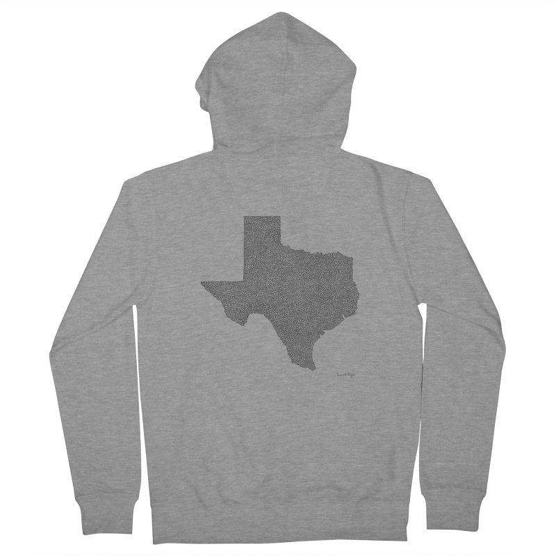 Texas -  Once Continuous Line Men's Zip-Up Hoody by Daniel Dugan's Artist Shop