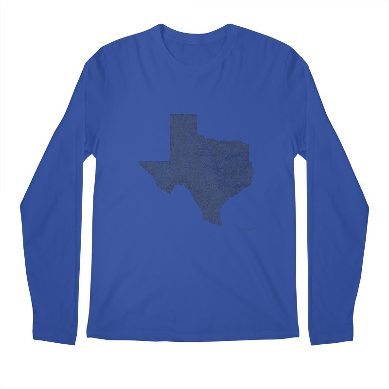 Texas -  Once Continuous Line Men's Longsleeve T-Shirt by Daniel Dugan's Artist Shop