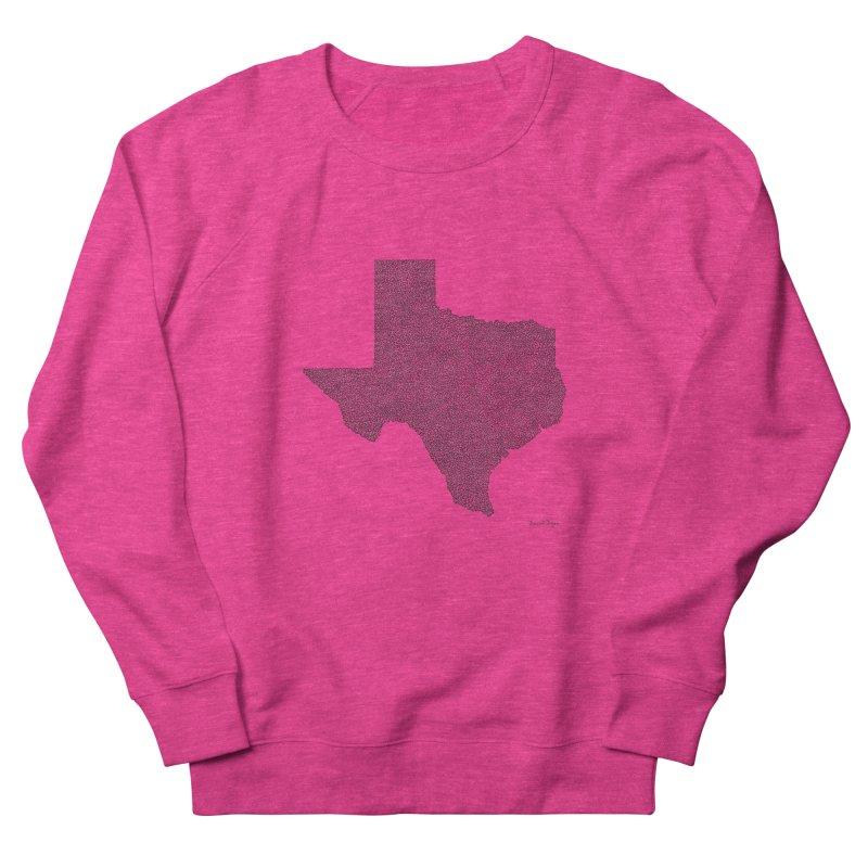 Texas -  Once Continuous Line Women's Sweatshirt by Daniel Dugan's Artist Shop