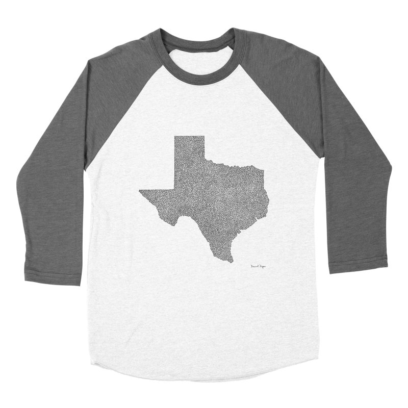 Texas -  Once Continuous Line Women's Baseball Triblend T-Shirt by Daniel Dugan's Artist Shop