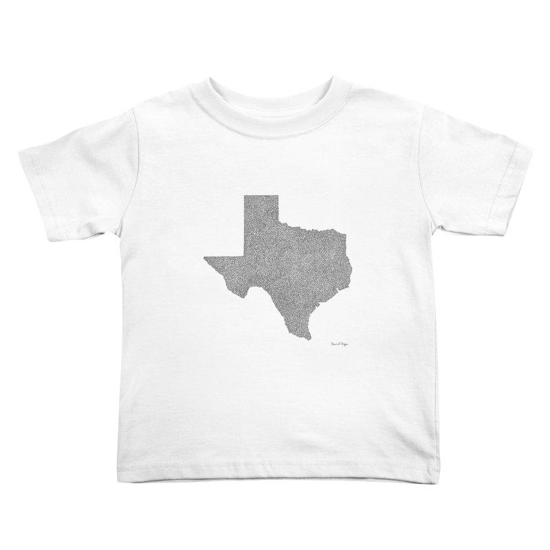 Texas -  Once Continuous Line Kids Toddler T-Shirt by Daniel Dugan's Artist Shop