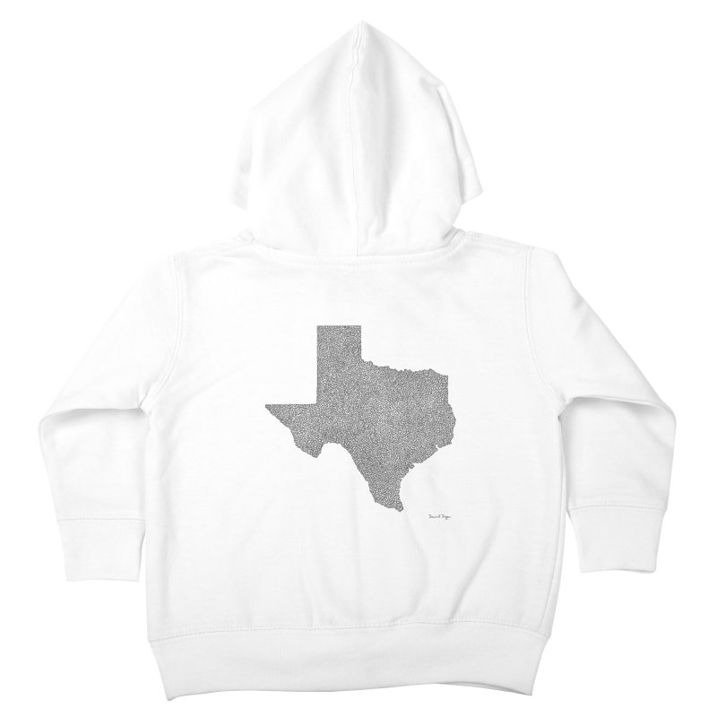 Texas -  Once Continuous Line Kids Toddler Zip-Up Hoody by Daniel Dugan's Artist Shop