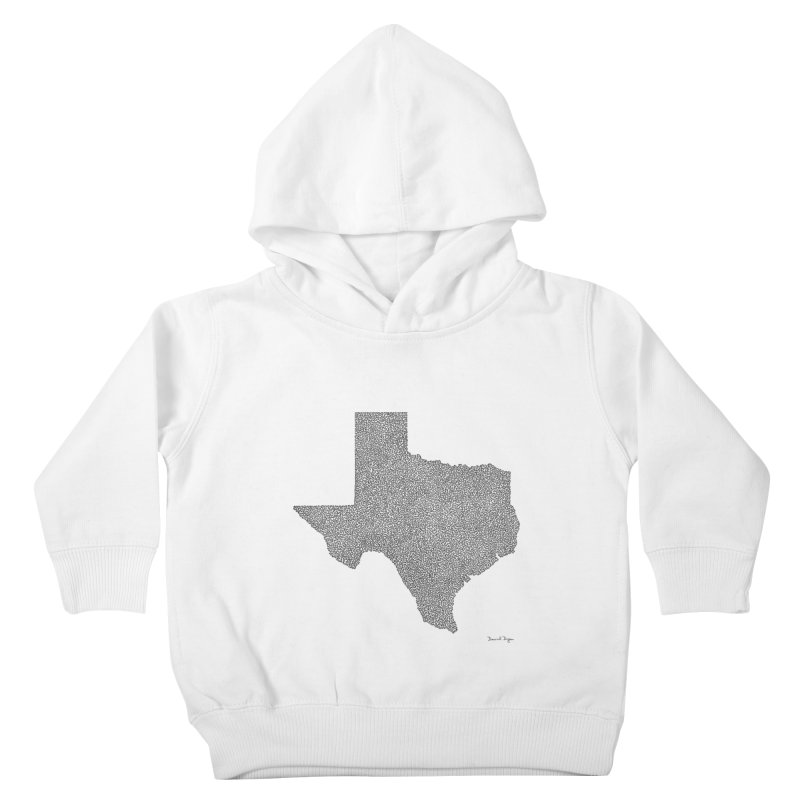 Texas -  Once Continuous Line Kids Toddler Pullover Hoody by Daniel Dugan's Artist Shop