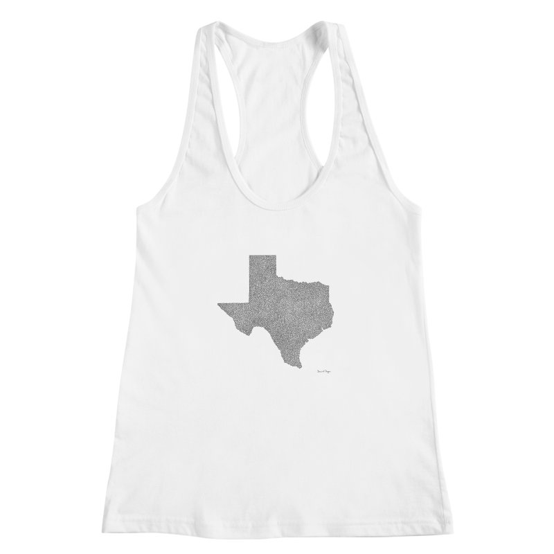 Texas -  Once Continuous Line Women's Racerback Tank by Daniel Dugan's Artist Shop