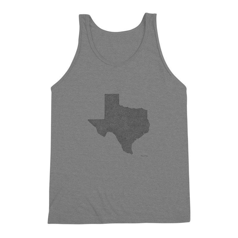Texas -  Once Continuous Line Men's Triblend Tank by Daniel Dugan's Artist Shop
