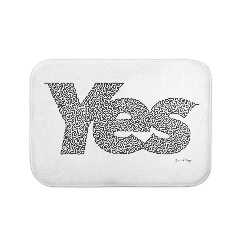 Yes (Black) - Multiple Colors + 40 Other Products Home Bath Mat by Daniel Dugan's Artist Shop