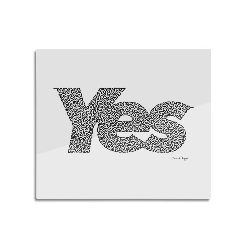 Yes (Black) - Multiple Colors + 40 Other Products Home Mounted Aluminum Print by Daniel Dugan's Artist Shop